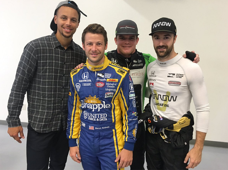 Stephen Curry, amante de la Indycar