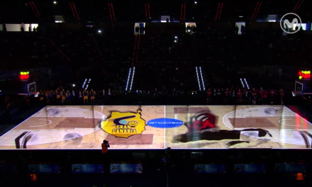 La Supercopa Endesa arrancó con este video-mapping