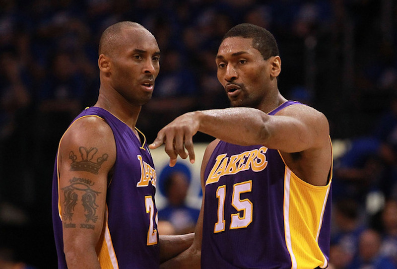 Metta World Peace intentó cambiar su dorsal en honor a Kobe